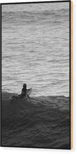 California Surfing Wood Print