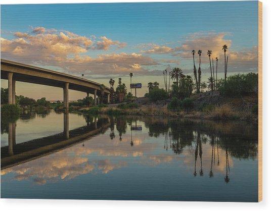 California To Arizona Wood Print