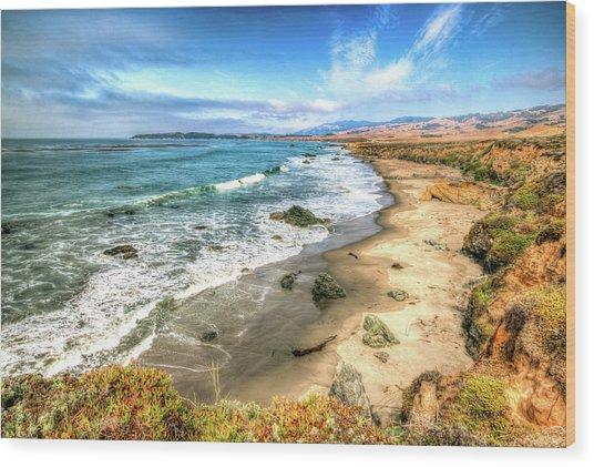 California's Central Coastline Wood Print