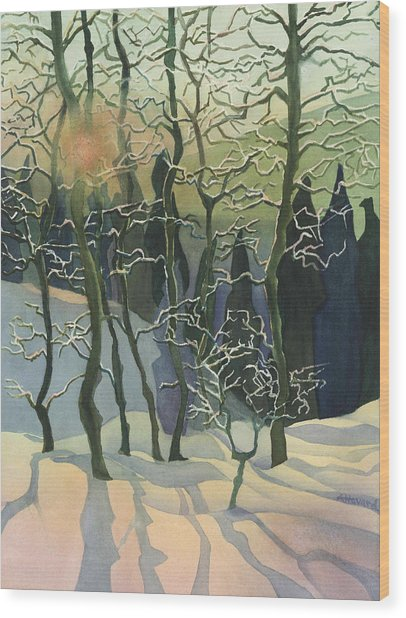 Call Mountain Sunset Wood Print