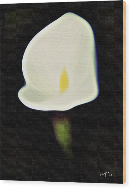 Calla Wood Print