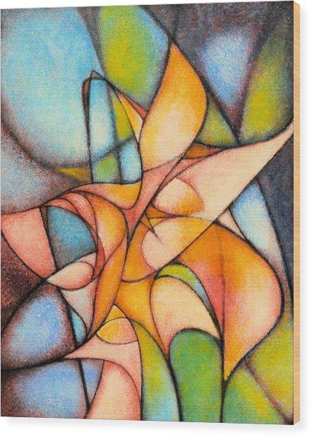 Calla Lillies Wood Print
