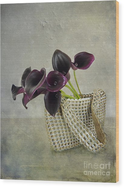 Calla's Bag Wood Print