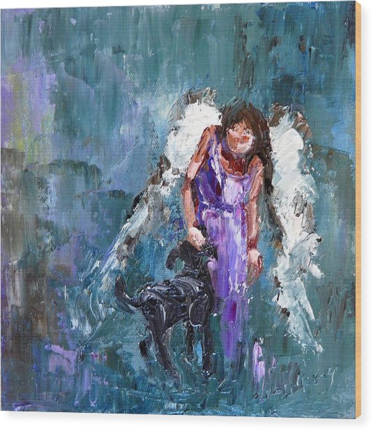 Calling All Angels Wood Print by Judy Mackey
