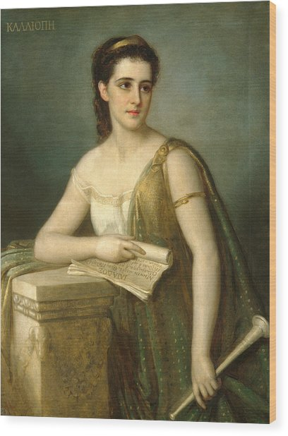 Wood Print featuring the painting Calliope by Joseph Fagnani