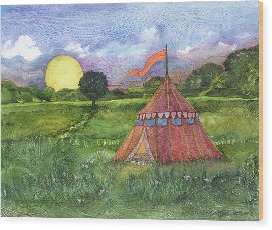 Calliope's Tent Wood Print