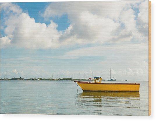Calm And Peaceful Ocean Wood Print