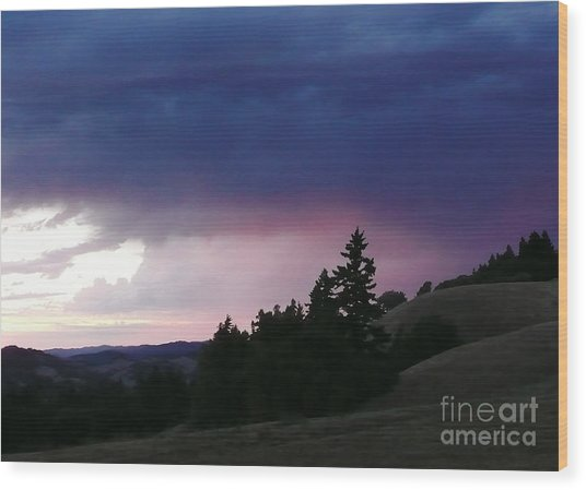 Calm Before The Really Big Storm Wood Print by JoAnn SkyWatcher