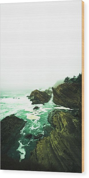 Wood Print featuring the photograph Calm Before The Wave by Pacific Northwest Imagery