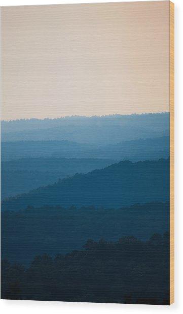 Calm Over The Hoyle Wood Print