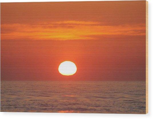 Calm Seas Sunrise Wood Print