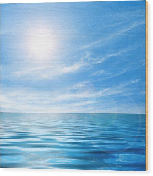 Calm Seascape Wood Print