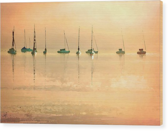 Wood Print featuring the digital art Calm Waters by Shelli Fitzpatrick