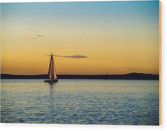 Calm Waters Wood Print