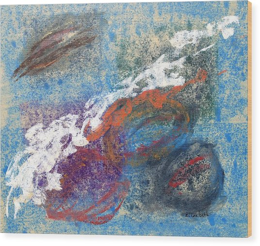 Calming Abstract 2 Of 5 Wood Print by Beth Maddox