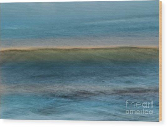 Calming Blue Wood Print
