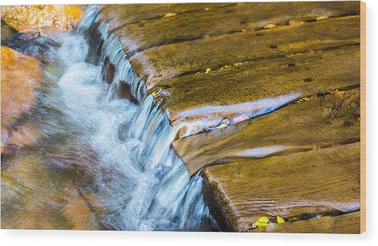 Calming Cascade Wood Print