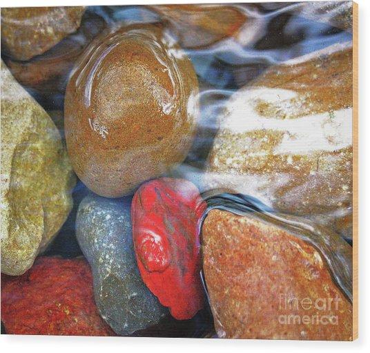 Calming Stones Wood Print