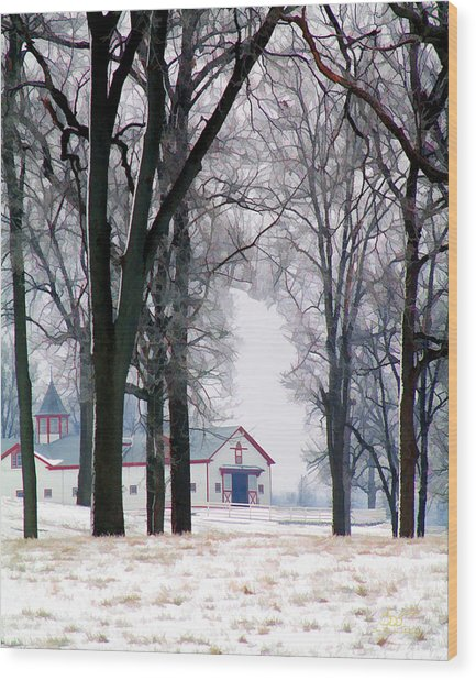 Calumet Winter Wood Print