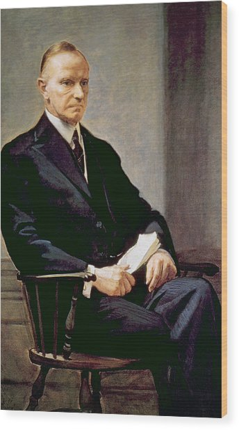 Calvin Coolidge 1872-1933, U.s Wood Print