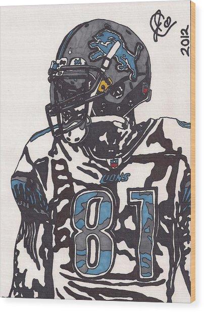 Calvin Johnson Jr 3 Wood Print