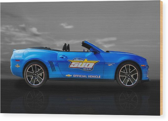 2013 Chevy Camaro Hot Wheels Pace Car  -  Cam3 Wood Print