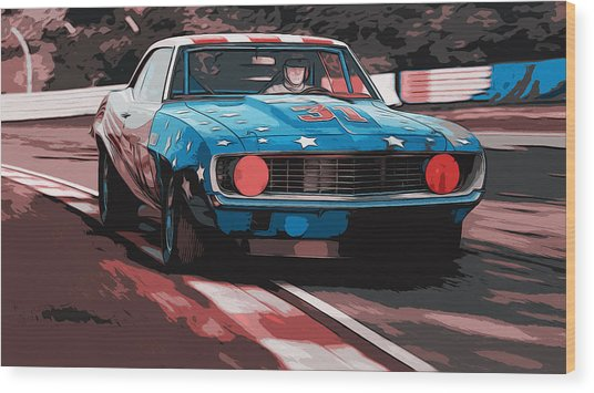 Camaro Z28 Transam 1969 Wood Print by Andrea Mazzocchetti