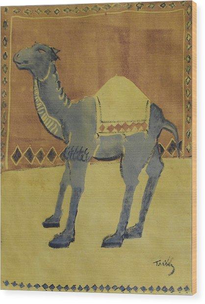 Camel With Diamonds Wood Print