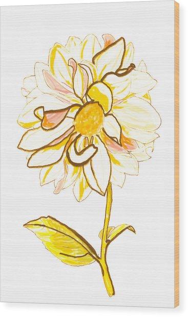 Camelia Wood Print