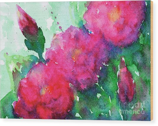 Camellia Abstract Wood Print