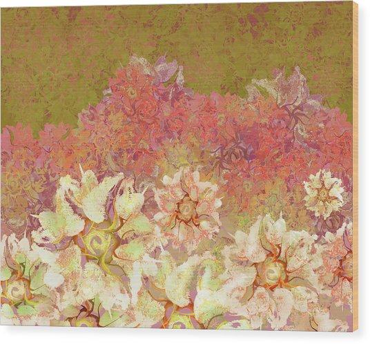 Camellia Hedges Wood Print