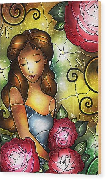 Lady Camellia Wood Print