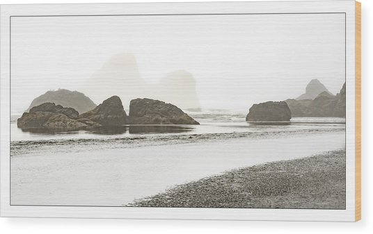 Camel Rock From Moonstone Beach Wood Print