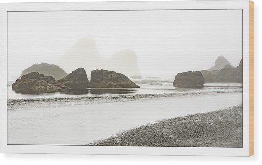 Camel Rock From Moonstone Beach Wood Print