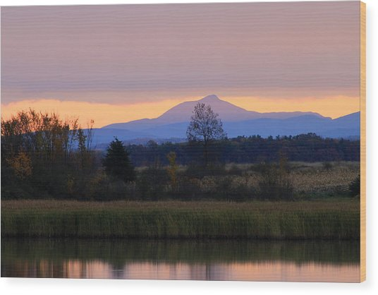 Camel's Hump Mountain From Dead Creek Wood Print