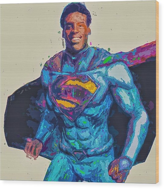 @cameron1newton #superbowl50 #2016 #art Wood Print