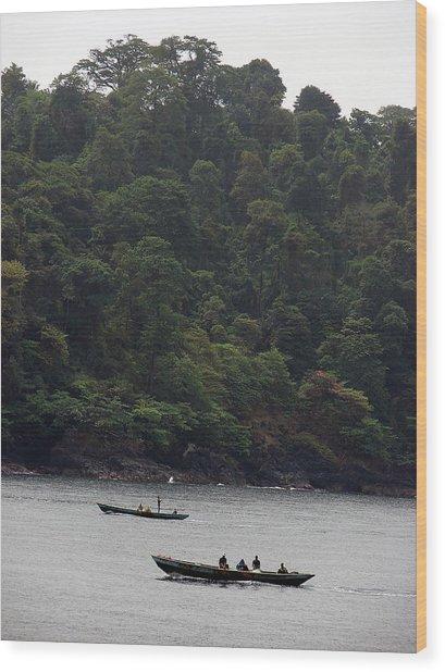 Cameroon Fisherman Africa Wood Print