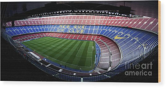 Camp Nou Wood Print