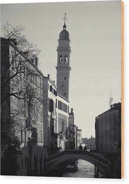 Campanile, San Giorgio Dei Greci, Venice, Italy Wood Print