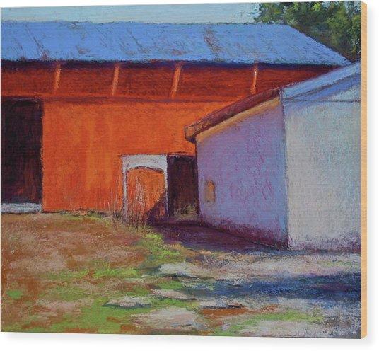 Campbell Farm Wood Print by Joyce A Guariglia