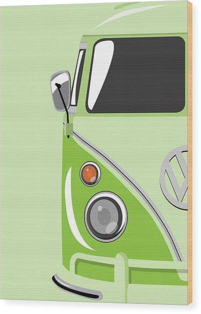 Camper Green Wood Print