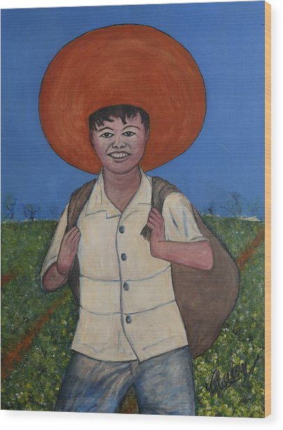 Campesino Wood Print