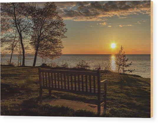 Campus Sunset Wood Print