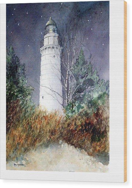 Cana Island Light House Wood Print