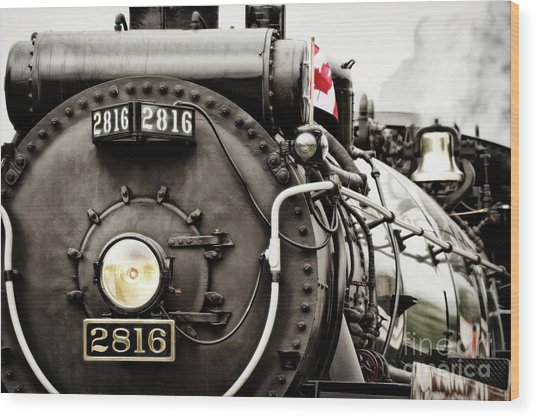 Wood Print featuring the photograph Canada Day by Brad Allen Fine Art