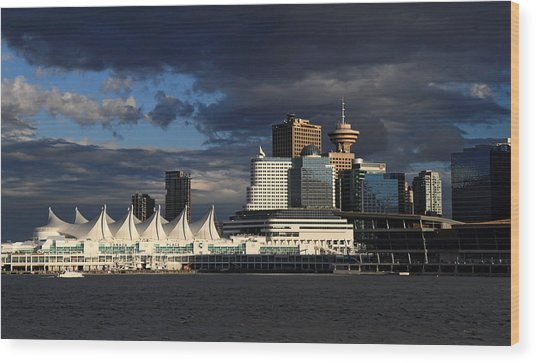 Canada Place Vancouver City Wood Print by Pierre Leclerc Photography