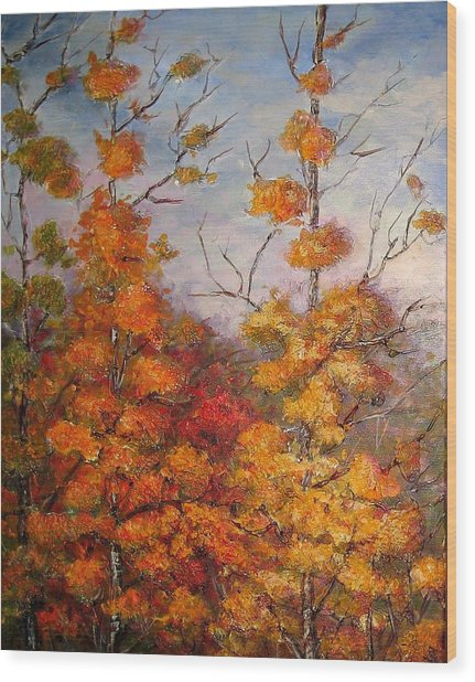 Canadian Autumn Wood Print