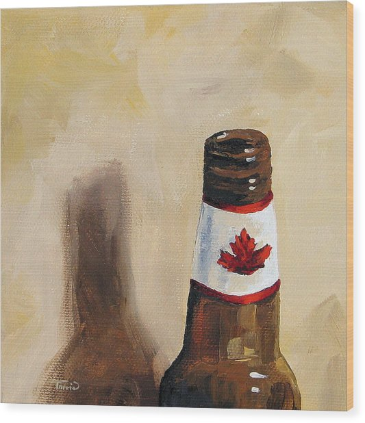 Canadian Beer Wood Print by Torrie Smiley