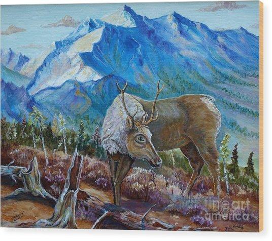 Canadian Caribou Wood Print