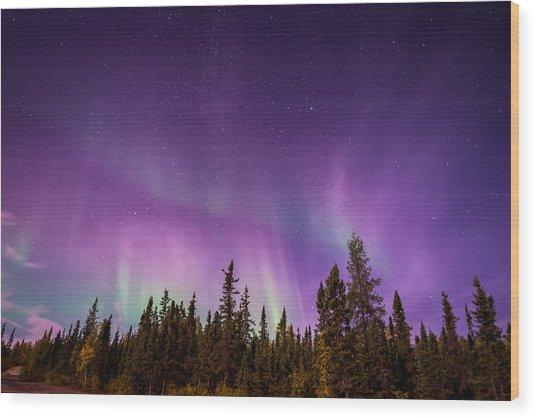 Canadian Northern Lights Wood Print